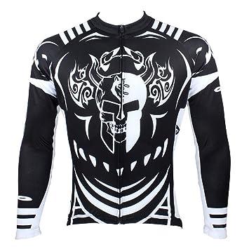 Pinkyee hombres de esqueleto ciclismo bicicleta camisetas manga larga chaqueta, hombre, color Jersey-2, tamaño small: Amazon.es: Deportes y aire libre
