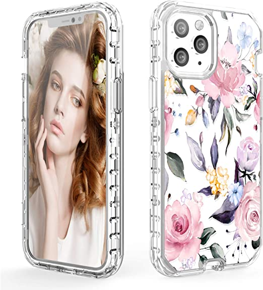 Floral iPhone Case 8 X 11 12 Pro Max Mini Dual Layer Case Women/'s Day Gift Tough iPhone XS XR Cases Flowers Phone Cover Glossy Matte