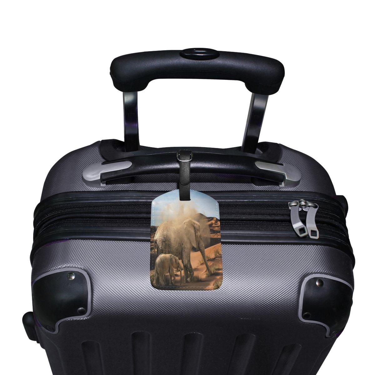 1Pcs Saobao Travel Luggage Tag Lucky Elephant PU Leather Baggage Suitcase Travel ID Bag Tag
