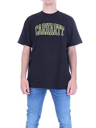 Carhartt Luxury Fashion Hombre I0270438900 Negro T-Shirt | Otoño ...