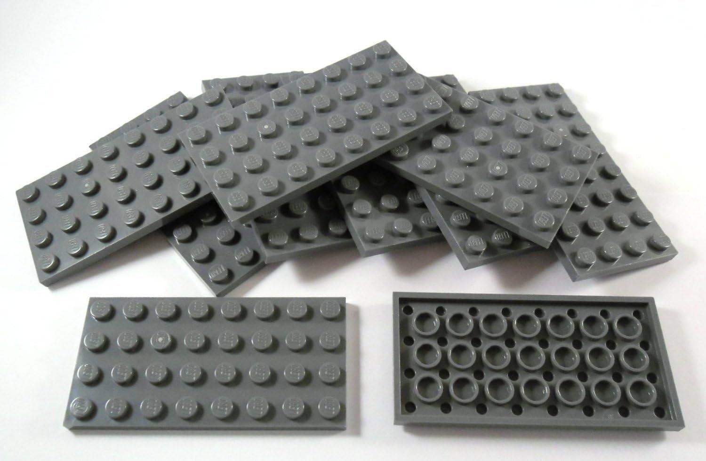 LEGO grigio scuro Bluastro PIASTRA 2x10 8 PEZZI NUOVO!!!