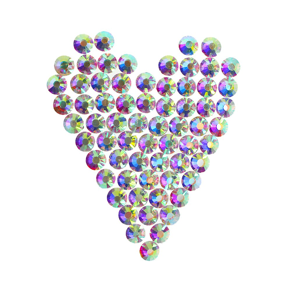 CREATRILL 1440 Pcs SS3 Nail Glass AB Art Rhinestones Tiny Round Flatback Crystals Beads,2 boxes as gift to storage small Charms Gems Stones, for DIY Nail Decoration Makeup Clothes Shoes (1.3mm-1.5mm) Chengyuan