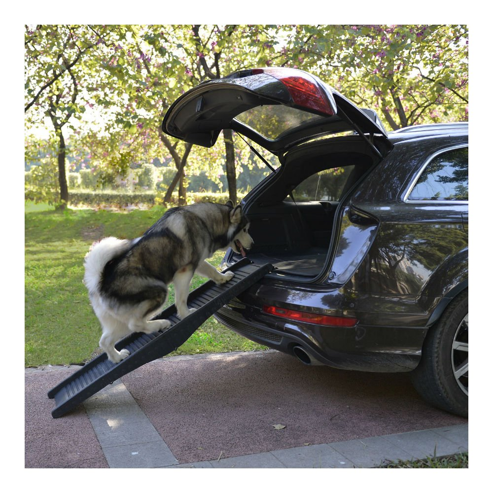 60'' Folding Pet Ramps Dog Ramp Truck SUV Stairs Portable Travel Steps Stairs