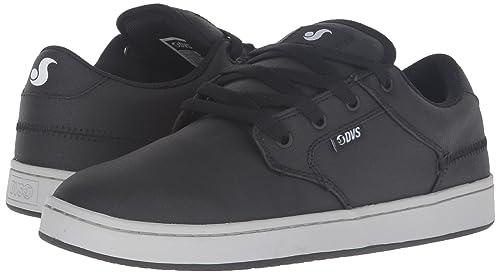 Zapatos Dvs Quentin Negro-Gris Canvas (Eu 44 / Us 10 , Negro)