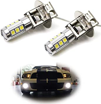 2x 2018 H3 LED Super White CREE New Fog Driving 6000k 10SMD DRL Light Warranty
