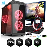 Computador Gamer Neologic NLI80153 Intel i5-7400 8GB (GeForce GTX 1050Ti) 1TB+Monitor 21,5 75Hz Win 8