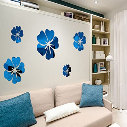Amazon Com Kaimu Removable 3d Flower Wall Stickers Mirror Home