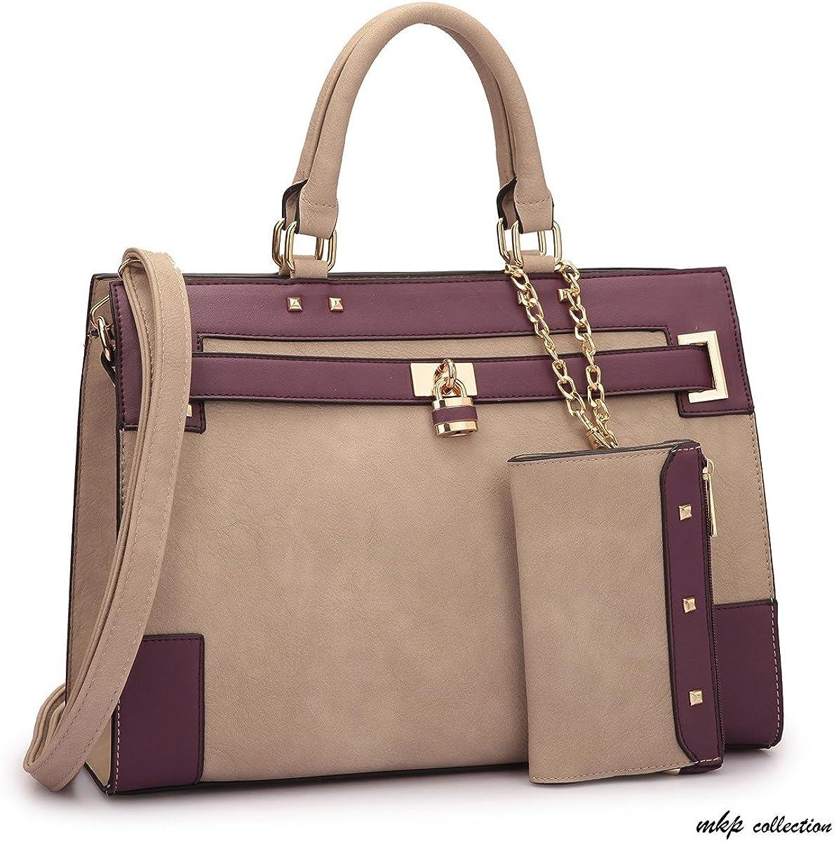 Two Tone Satchel Fashion woman Tote Trendy Lady Purse Designer handbag for all season