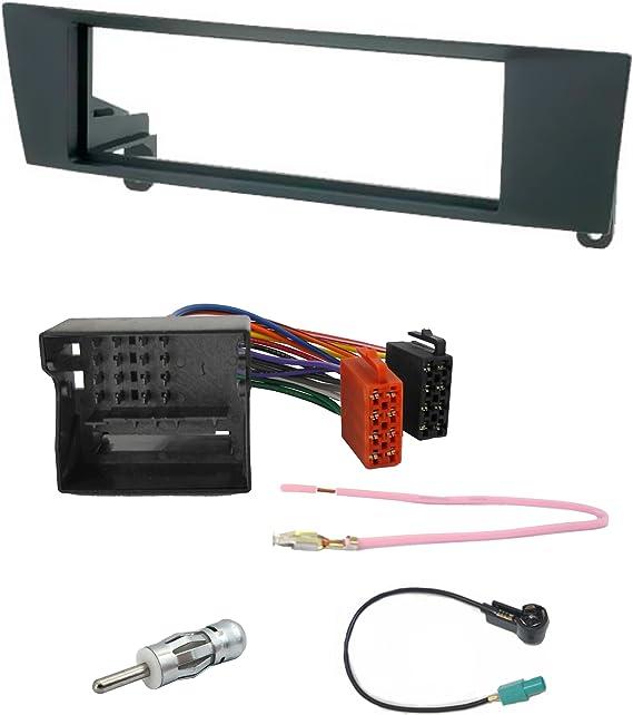 Watermark #6203S1# - Conjunto de Radio integrada (Marco + Cable Adaptador + 2 adaptadores de Antena, para BMW 1er E81/E82/E87/E88, 3er ...
