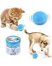 Wicked Ball Toy Actif Saut de balle Fun Interactive Teaser Toy pour animaux de compagnie chien chat avec Flash LED roulant, USB rechargeablectif pour Chien Chat Animaux