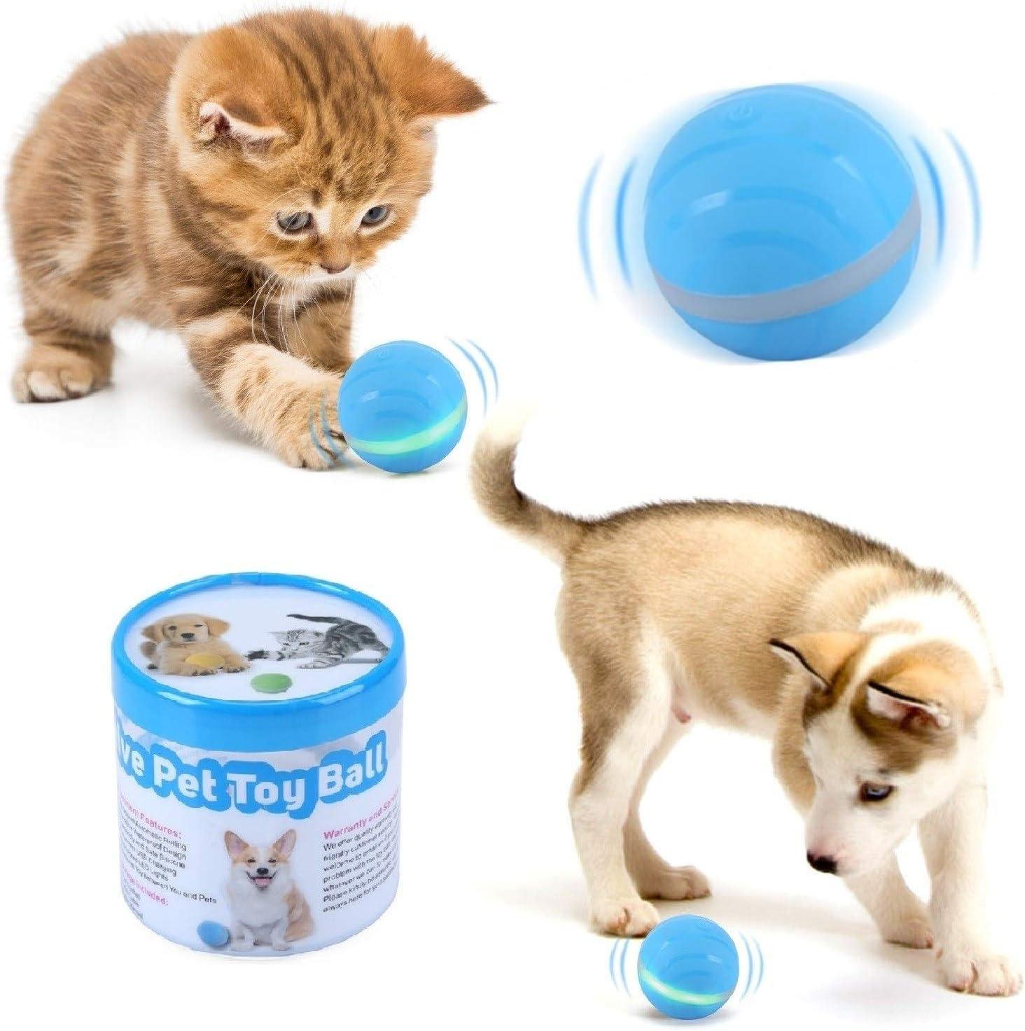 Pelota de salto activa para mascotas, pelota eléctrica con USB ...