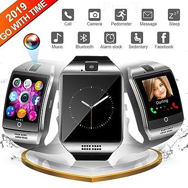 Reloj Inteligente, Smartwatch con Pulsómetro Reloj Inteligente Resistente al Agua Fitness Tracker con Cronómetro,