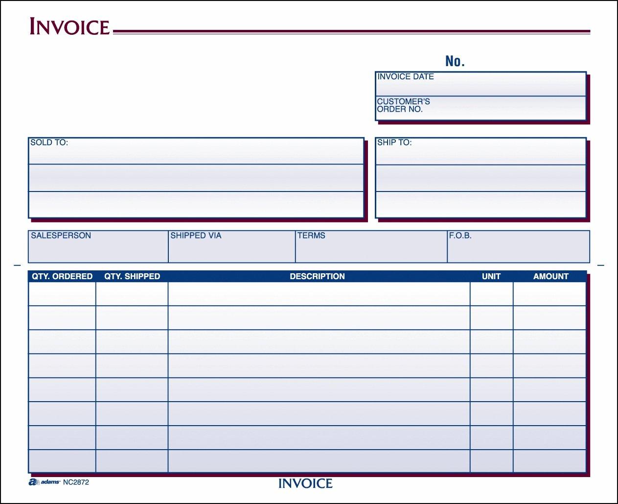 Amazoncom Adams Invoice Unit Set X Inch Part - Adams invoice dc5840