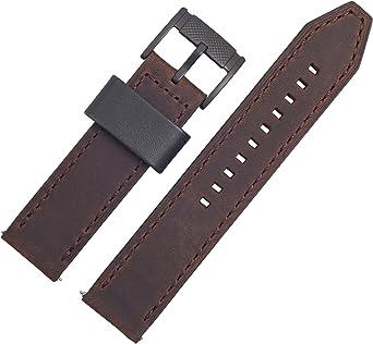 Correa de repuesto para reloj Fossil, 22 mm, piel, marrón – Conjunto de correa para reloj FS-4656: Amazon.es: Relojes