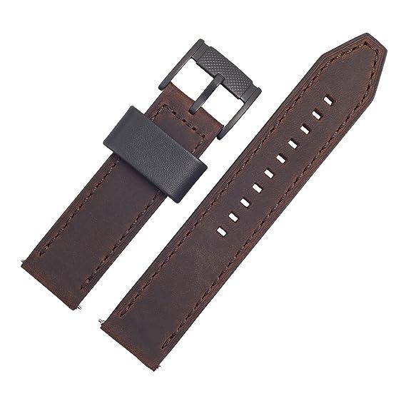 Correa de repuesto para reloj Fossil, 22 mm, piel, marrón ...