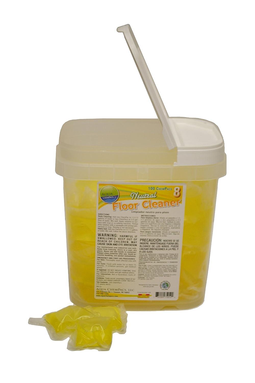 Image of All-Purpose Cleaners Aqua ChemPacs AQ745 Simoniz Neutral Floor Cleaner, 4 x 100/Tub (Pack of 400)