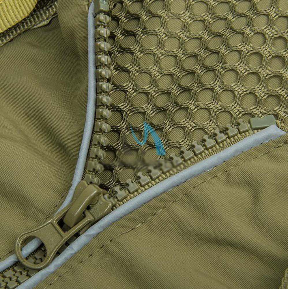 Outdoor Fliegenfischen Mesh-Jacke Sommer aush/öhlen schlank Multi-Pocket-Weste Multifunktions Mesh Camouflage Jacke atmungsaktive Weste Jacke f/ür Camping Angeln Fotografie Herren Angeln Weste Jacke