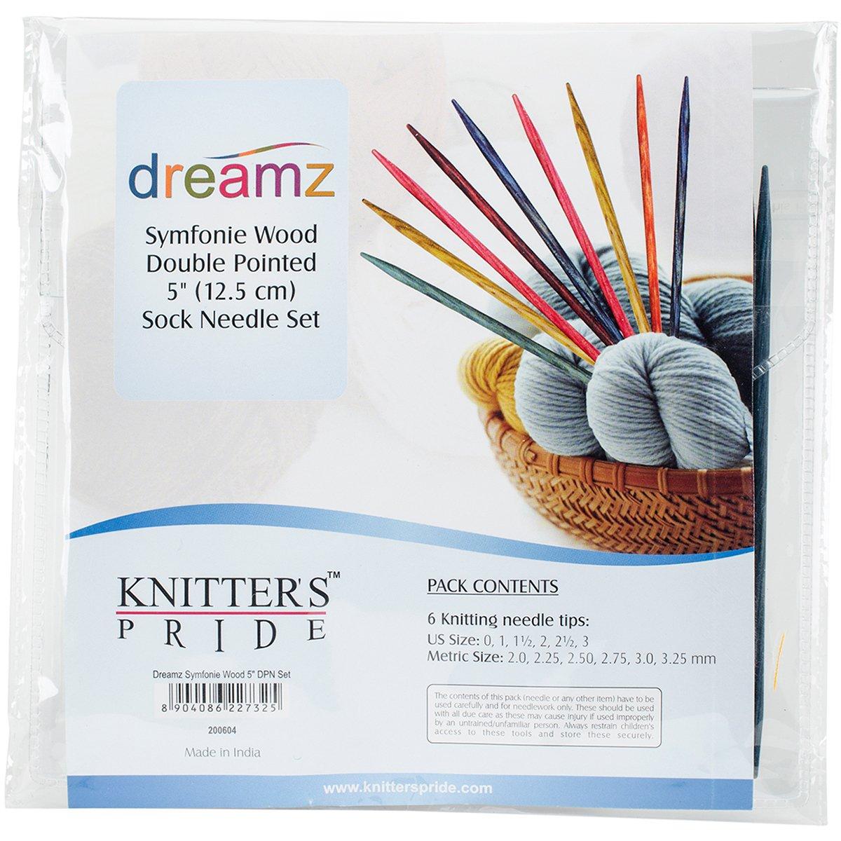 Knitter's Pride Dreamz Double Pointed Needle Socks Kit, 5''