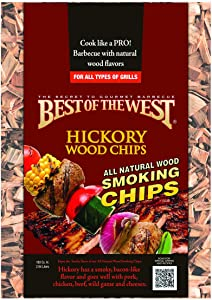 Best of the West 50693-2 Wood Smoking Chips, Hickory, 180 Cubic Inch Bag