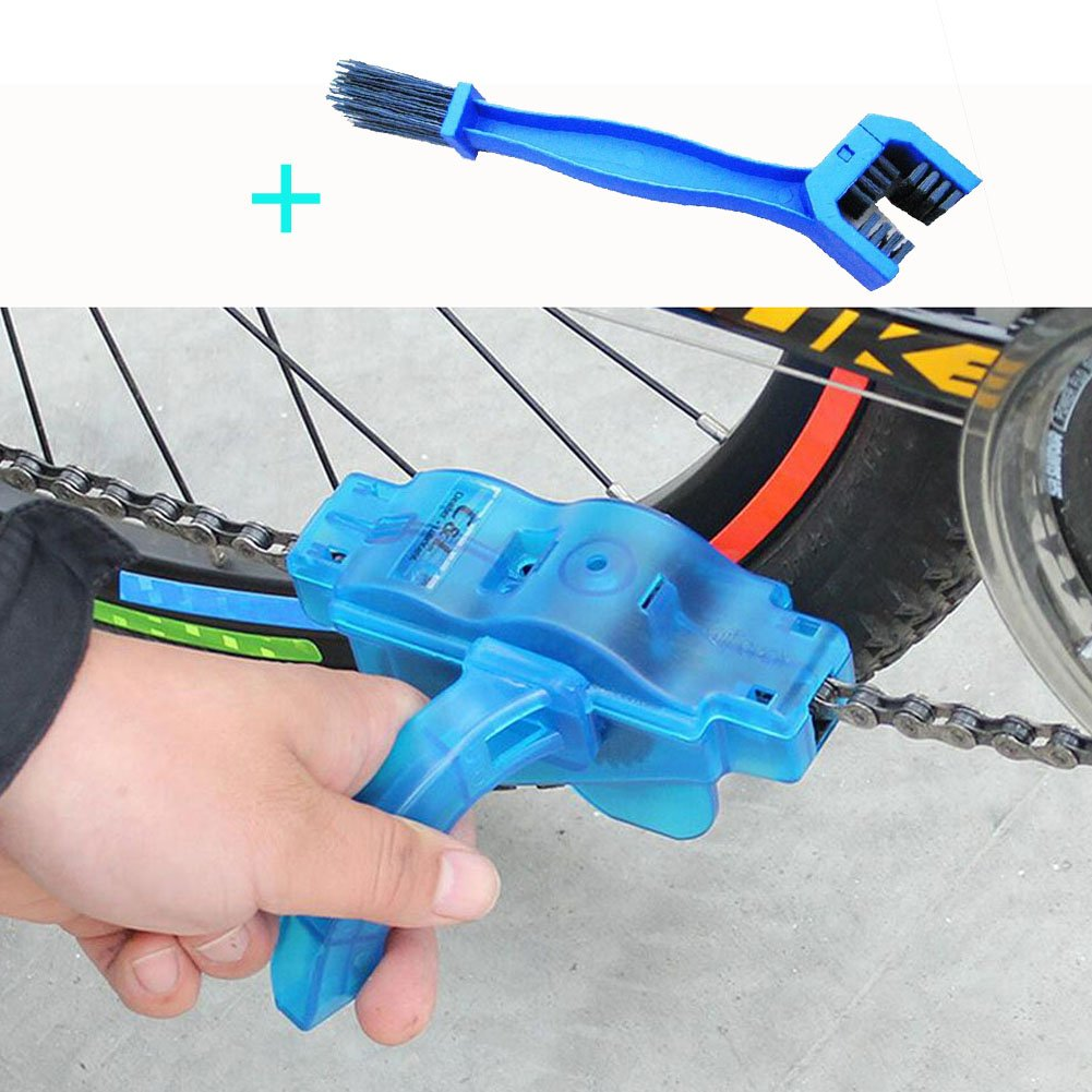 Motorcycle Bike Chain Cleaning Brushes Scrubber Clean Tools Set