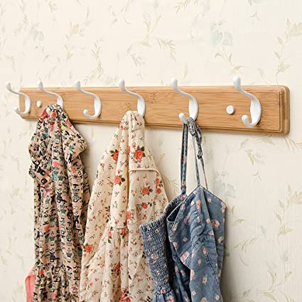 Living Room Bedroom Coat Hooks Creative Coat Rack Wall-mounted Hooks Wall Hanging Hangers Size & Amazon.com: Living Room Bedroom Coat Hooks Creative Coat Rack Wall ...