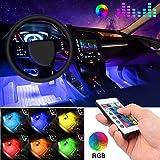 言の葉 車内 イルミネーション 防水高輝度 フルカラーRGB LEDテープライト 車内装飾用 フットランプ 足下照明 リモコン付き