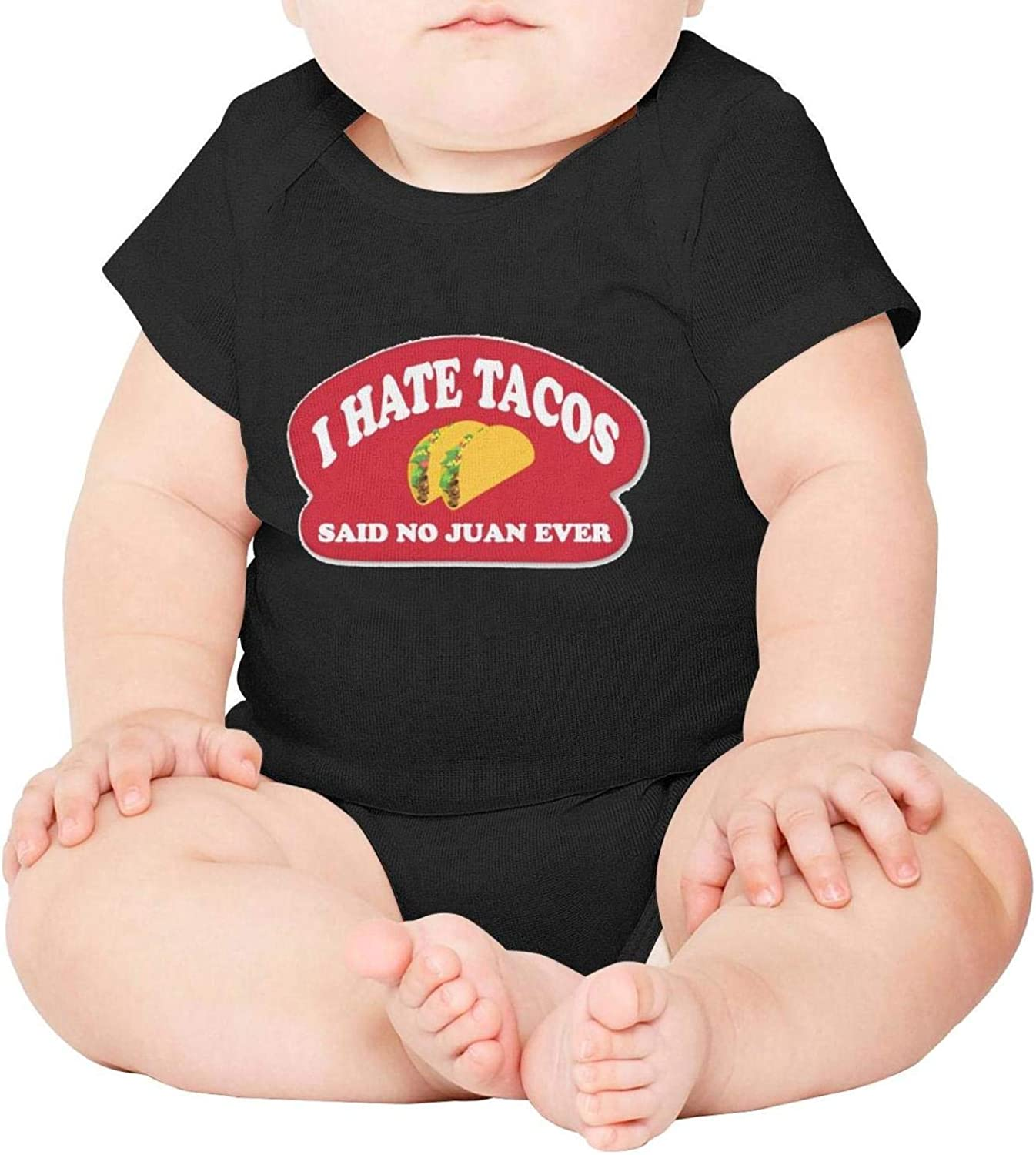 Baby Onesies Red I Hate Tacos Said No Juan Ever 100/% Cotton Newborn Baby Clothes Cute Short Sleeve Bodysuit