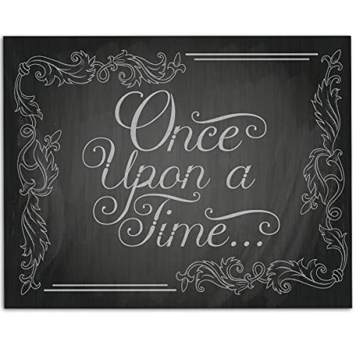 Amazon Com Once Upon A Time Chalkboard Style 11x14 Unframed Art