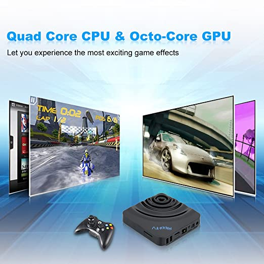 Excelvan® Rippl -TV Box XBMC WIFI IPTV (Android 4.4 Amlogic S802, 2.4GHZ, 5.8GHZ, Network Streamer, Bluetooth): Amazon.es: Electrónica