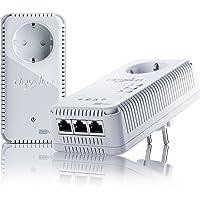devolo dLAN 500 AV Wireless+ Starter Kit Powerline (500 Mbit/s Internet über die Steckdose, 300 Mbit/s über WLAN, 3x LAN Ports, 2x Powerlan Adapter, PLC Netzwerkadapter, WLAN Booster, WiFi Move) weiß