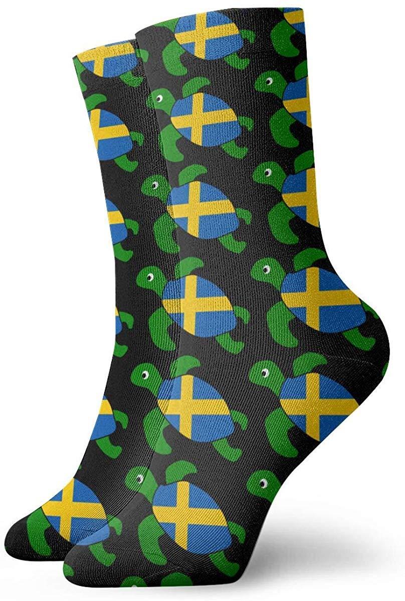 Calcetines personalizados de la bandera de Finlandia de la tortuga ...