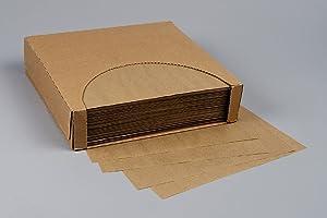 12x12 Waxed Paper Wrap or Basket Liner Sheet, Natural Kraft, 1000 Sheets Per Box, 7B4-NK
