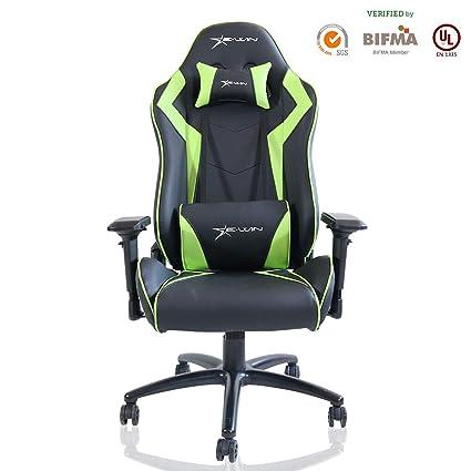 Series With Cpa Chair Gaming Office Ergonomic Ewin Computer Champion Pillowsblackgreen 6yf7gYbv