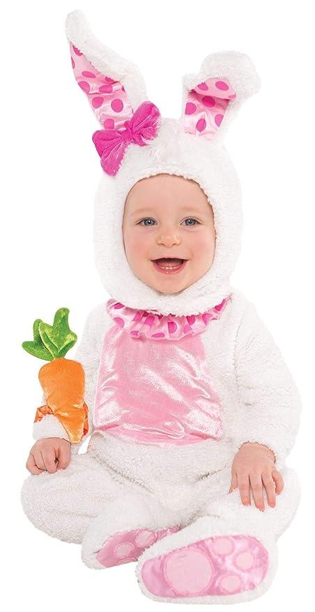 5fd768f3e153 Amscan - Costume da coniglietto per bambine, 6-12 mesi (74 cm ...