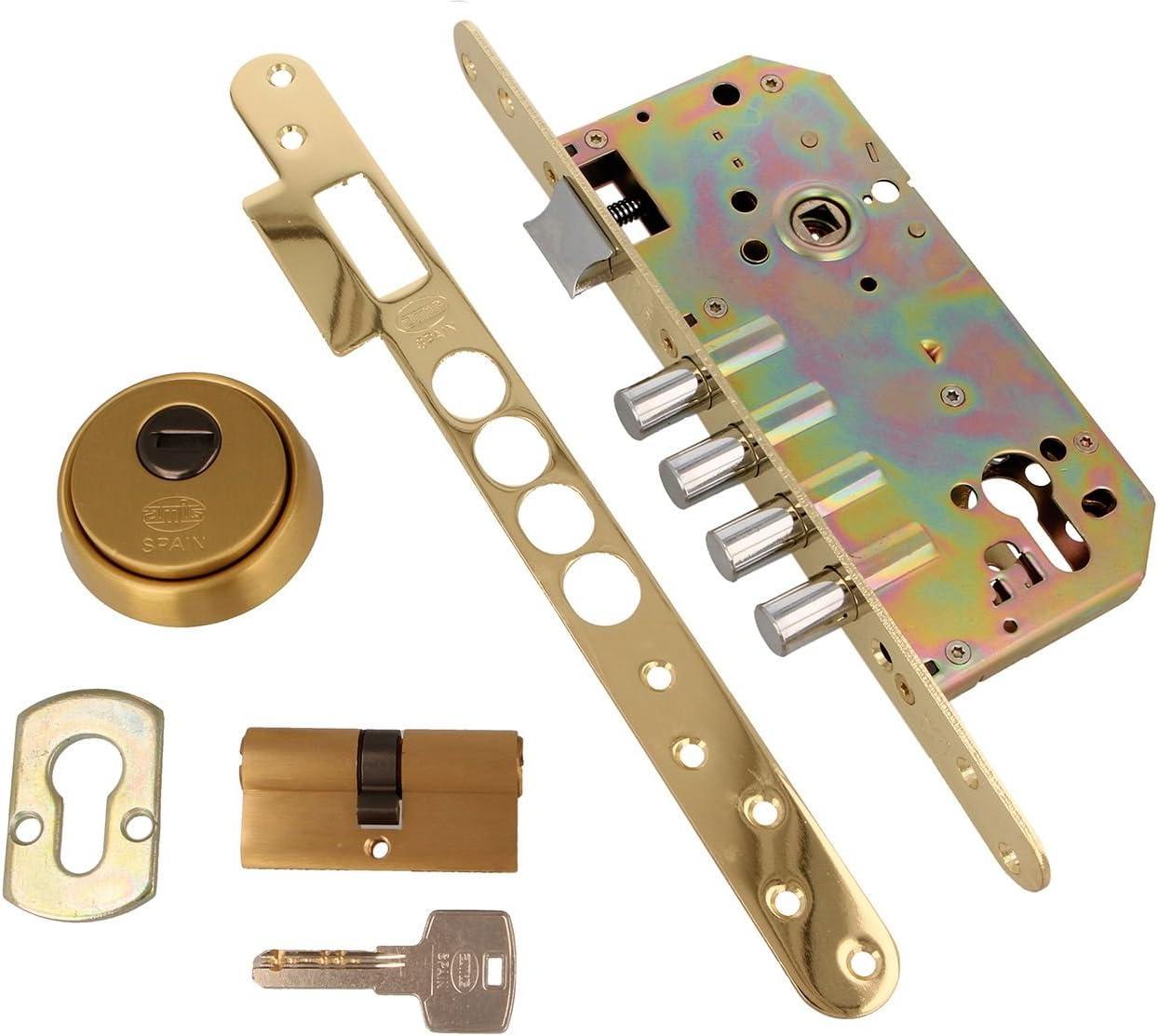 amig 6367 CERRADURA REF.101 LATON MATE 50mm, 0 W, 0 V, Dorada ...