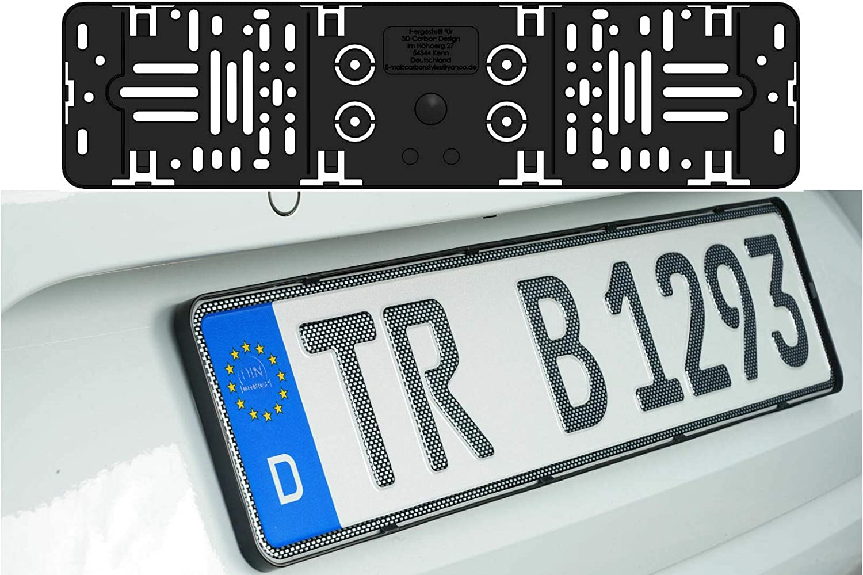 520 x 110 mm 52 x 11 cm. 1 soporte elegante sin marco para matr/ícula de coche