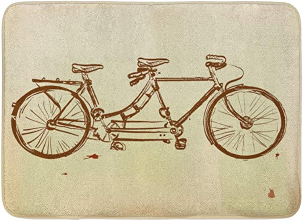 Alfombras de baño Alfombras de baño Al aire libre / Interior Estera de la puerta Bicicleta Retro