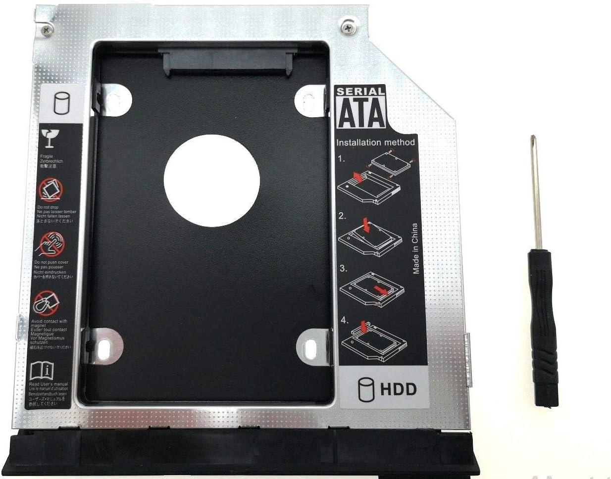 2ND Hard Drive Caddy (with Ejector) for dell E6420 E6520 E6320 E6430 E6530 E6330