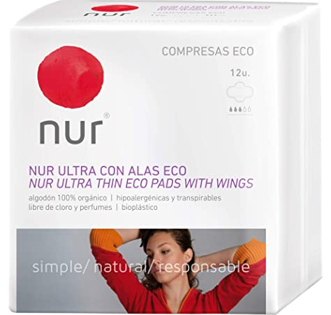 COMPRESA ULTRAFINAS CON ALAS ECOLOGICAS NUR 12 compresas: Amazon.es: Belleza