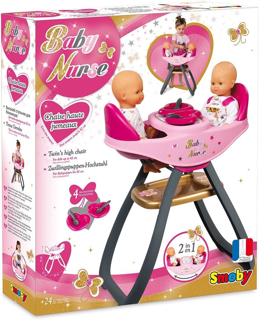 Accessoires en Baby Haute Nurse JumEaux Smoby Transformable Inclus Chaise 220315 Bascule4 0PN8OXnwk