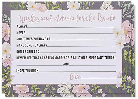 Amazon Marriage Advice And Well Wishes Cards For The New Bride