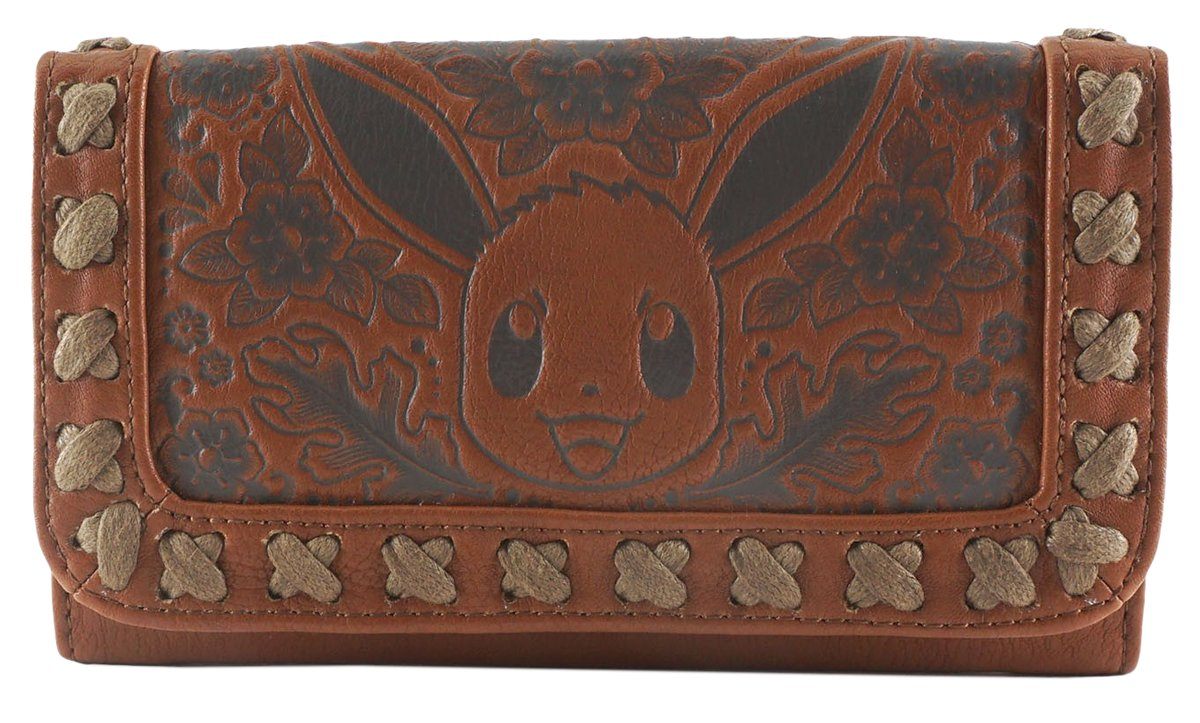 Loungefly Pokemon Eevee Character Brown Embossed Zipper Closure Wallet
