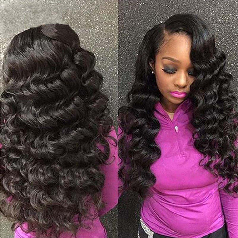 Amazon Alibally Brazilian Virgin Hair Loose Wave Unprocessed