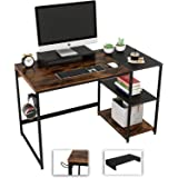 Nost & Host Computer Desk with Storage Shelves and Free Large Monitor Stand, Sturdy Wooden Modern Industrial Home Office PC L
