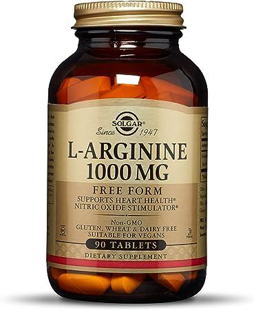 Solgar L-Arginina Comprimidos de 1000 mg- Envase de 90: Amazon.es ...