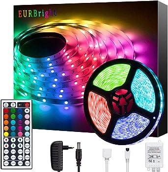 5m LED Strip MINGER RGB LED Streifen Kit mit Fernbedienung 5050 SMD Farbwechsel LED Band f/ür Zuhause K/üche Schlafzimmer Bar Dekoration