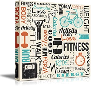 """wall26 - Canvas Prints Wall Art - Fitness Design with Typography 