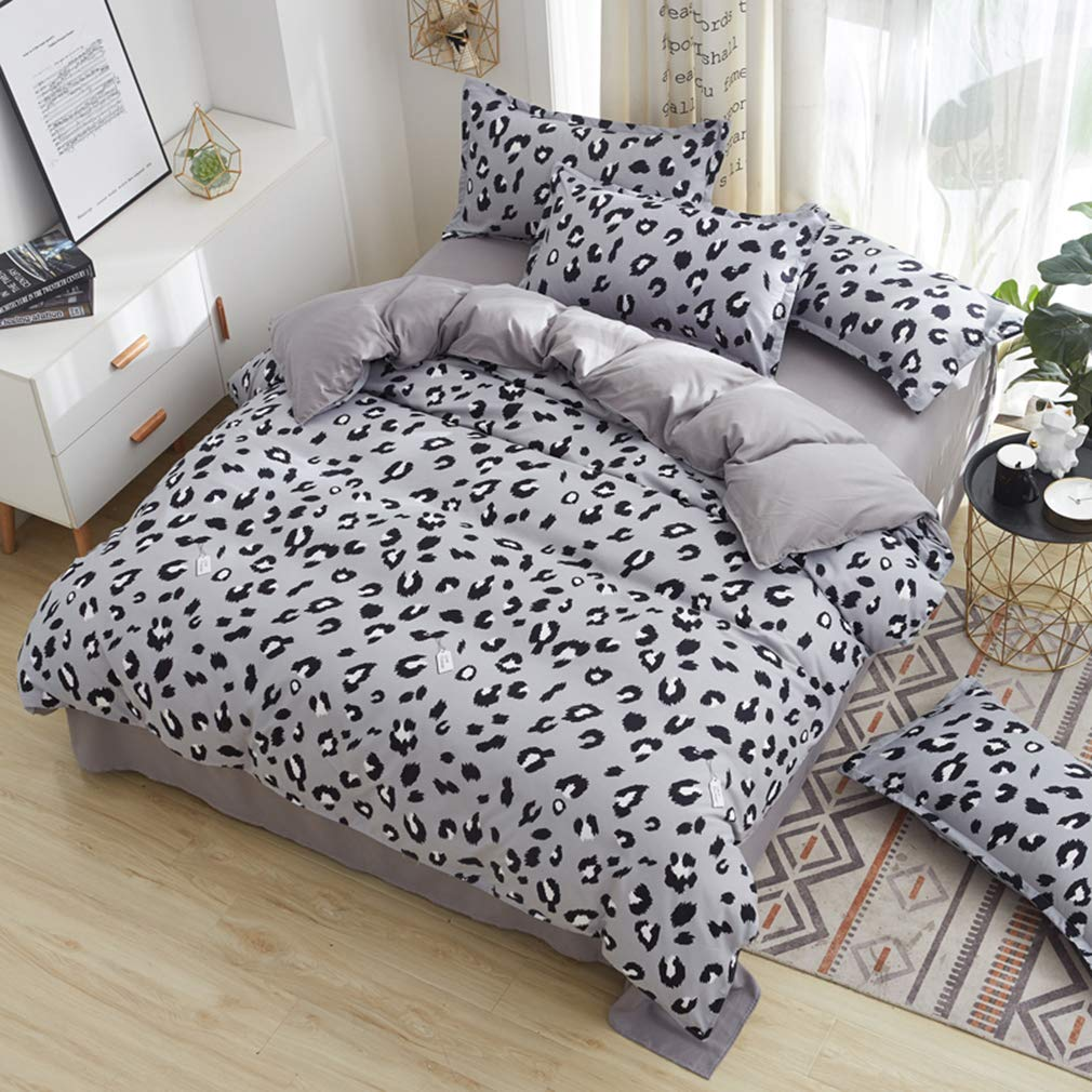 Cat, Twin Cat Kids Duvet Cover Twin Cute Flowers Printed Duvet Comforter Cover with 1 Pillowcase Soft and Lightweight Kids Bedding Set