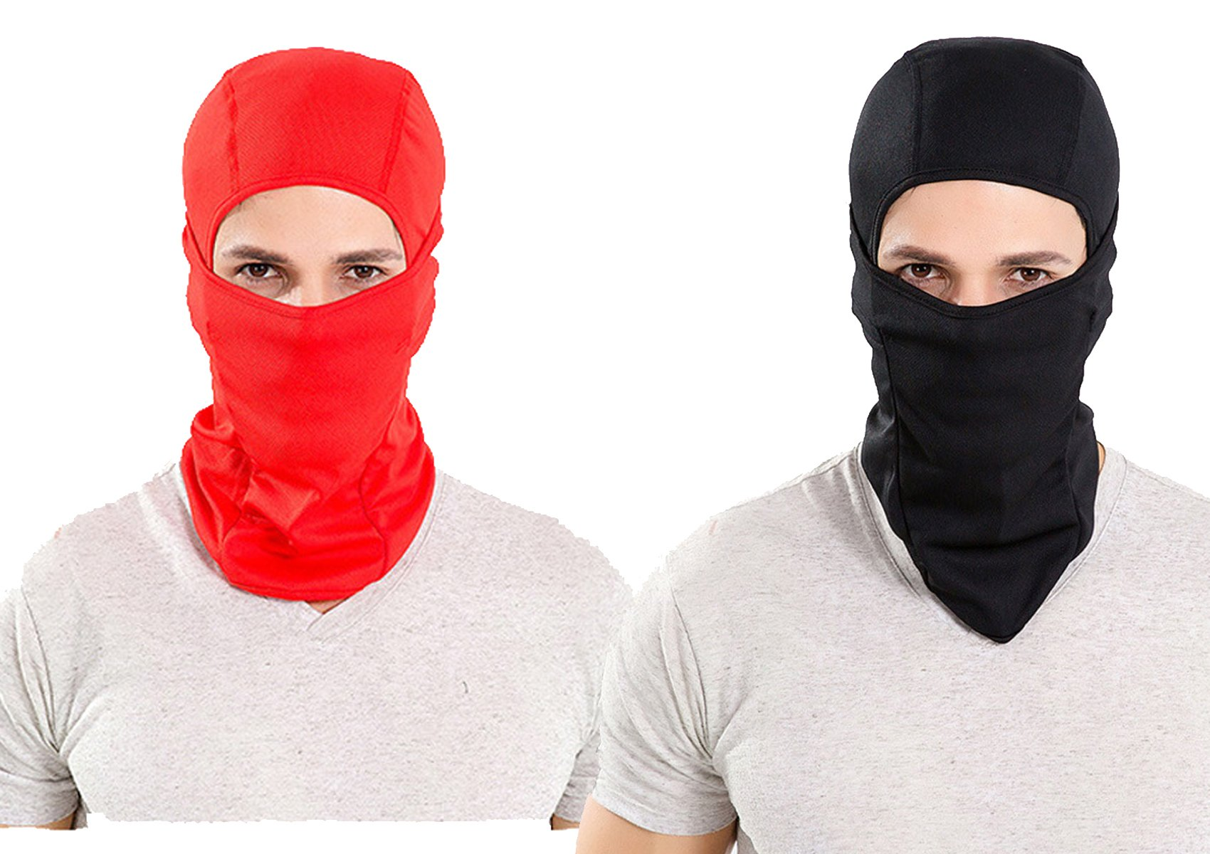 Leories Balaclava Motorcycle Tactical Skiing Face Mask Black/Red