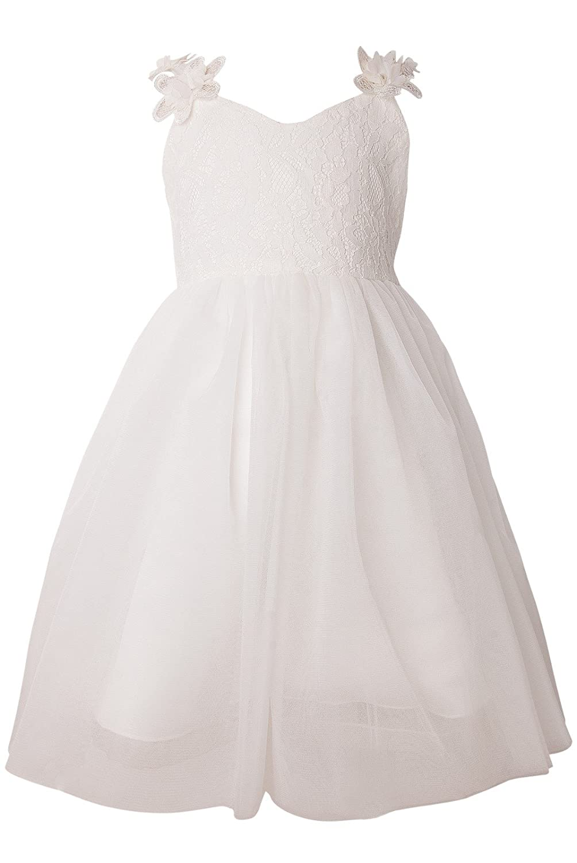 Holy Unicorn Lovely Lace V-Neck Backless Flower Girl Dress 3 - 12
